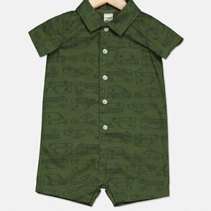 Carters Baby Boys Rescue Vehicle Print Romper